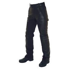 Pantaloni urbani in pelle bovina per motociclista