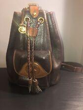 Vintage Dooney And Bourke Dark Brown Backpack/ Shoulder Purse