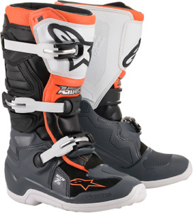 Alpinestars Tech 7s Youth Boots - Black/Gray/White/Orange - All Sizes