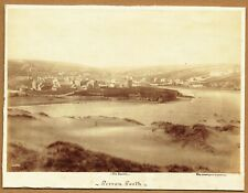 More details for panorama of perranporth, cornwall. rare 1880s albumen photograph
