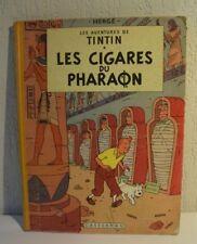 C56 BD album Tintin  Les Cigares du Pharaon 1955 3 ème T 4 èmè plat B 14