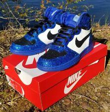 New Size 8 Custom Glitter Nike Big High Jordan 1 Colorway Mens Shoes