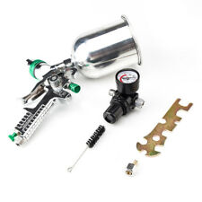 HVLP Spray Gun 2.5mm Auto Paint Gravity Feed Gauge Metal Flake Primer Nozzle New