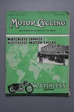 R&L Mag: Motor Cycling Oct 28 1954 Triumph 500 Racer/Sidecars/Reliant Regal