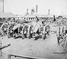 Captured Confederate Siege Guns Richmond Virginia 1865 - 8x10 US Civil War Photo