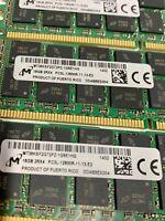 128GB (8X16GB) DDR3 PC3L-12800R ECC Reg Memory RAM Dell A6996807 SNP20D6FC/16G
