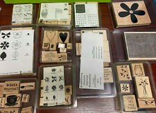 great lot Stampin Up wood rubber stamp lot used & unused new