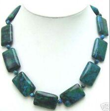 "13x18mm Rectangle GENUINE NATURAL Malachite necklace 18"" JN114"