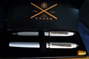 Cross Century II Pearlescent White Ballpoint & Fountain Pen Set