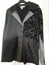 Heine Patchwork Style Jacket Size 16 Grey BNWOT