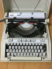 HERMES 3000 Portable Typewriter White USED w/Box Acceptable Vintage English