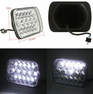 Auto Car 15 LEDs Bulb Light H4 Sealed High/Low Beam Headlamp Headlight Aluminum