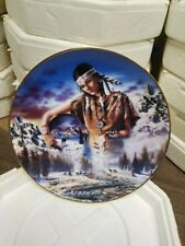 "Royal Doulton ""Maiden of the First Snowfall "" Limited Plate Ha1839 Dave Penfound"