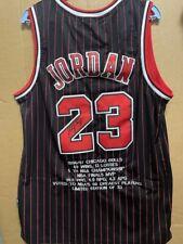 Signed Michael Jordan Chicago Bulls autographed career Jersey #23