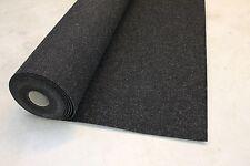 Nadelfilz schwarz grau meliert 2 m breit Auslegware Boot Teppichboden