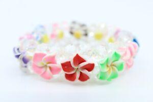 Hawaii Flower Bracelet - Children/ Kids Size, Stretchable, Plumeria, Hibiscus