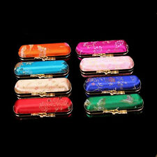New 3 Pcs Chinese Handmade Vintage Luxurious Silk Lipstick Case Boxes