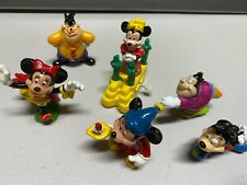Vintage Lot(6) Disney Approx 2 inches Figures Toy Burger King wind-up Minnie +