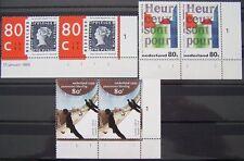 Ned. - Serie paren Gedicht, Mesdag, Blauwe Mauritius 1995 postfris Etsingnrs (1)