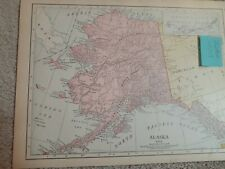Antique Map of Alaska with Washington on Reverse Side/1910/Rand McNally/10 by 13