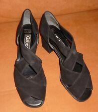 ❤️*Gabor*Sandaletten*Pumps*Peeptoe*schwarz*Leder*Wildleder*Gr. 39*Neuw.❤️