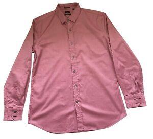 Paul Smith London Ls Shirt Größe 17/43 Slim Fit p2p 57.1cm