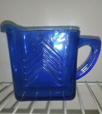 Creamer pitcher vintage Cole ball Blue