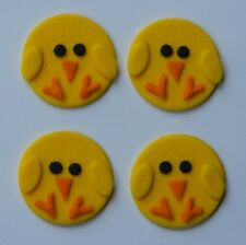 12 edible EASTER CHICKS cake CUPCAKE topper DECORATION baby shower chicken CUTE