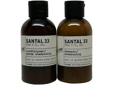 Le Labo Santal 33 Shampoo and Conditioner Is 1.4 Oz bottles. Travel