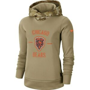 New 2019 NFL Chicago Bears Nike Salute to Service Therma Pullover Women's Hoodie