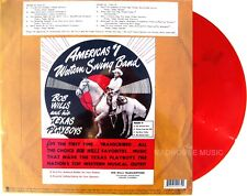 BOB WILLS and His TEXAN PLAYBOYS LP Transcriptions RED VINYL RECORD STORE DAY