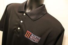 Martin Methodist Redhawks Indians Size L Black Short Sleeve Polo 100% Polyester