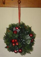 "Vintage Plastic Christmas Greens Satin Balls Hanging Ball 8"" round 16"" long"