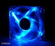 Akasa 80mm Crystal Blue Fan with 4 Blue LEDs
