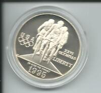 Münze USA Atlanta 1996 Olympiade 1 Dollar Radsport Radfahren 26,73 g Silber PP