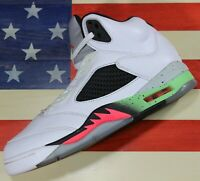 Nike Air Jordan V 5 Retro Poison Green White Shoe 2015 [136027-115] sz 10
