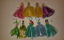 Disney Princess Figure Dress Ornaments Set Of 9 Tinker Bell Jasmine Ariel Belle