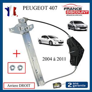 Mecanisme Leve Vitre Electrique Arriere Droit pour PEUGEOT 407 & SW BREAK