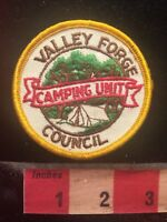 Vtg (circa 1970s) Valley Forge Council CAMPING UNIT BSA Patch Boy Scouts PA 79Y2