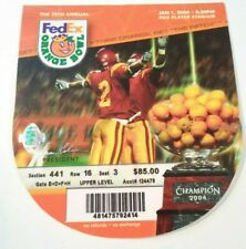 2004 Orange Bowl Miami Hurricanes Florida State Seminoles Football Ticket Stub