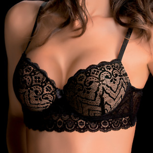 LOVE AND BRA Chantal Reggiseno Balconcino Con Ferretto Pizzo