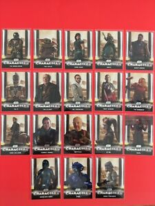 Star Wars the Mandalorian series 1 - Topps - Complete Characters Set, 18 cards