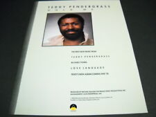 Teddy Pendergrass Hold Me.1st new music in over 2 years 1984 Promo Poster Ad