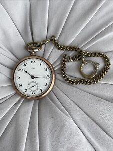 Lip Taschenuhr 800 Silber  Für Treue Dienste 1927 Mines De La Sarre Wunderschön