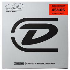 Dunlop Dbmms45105 Marcus Miller Super Bright Md-4 /Set, New!