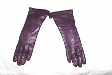 NWOT BURGUNDY PURPLE LEATHER GLOVE MADE IN ITALY CASHMERE LINED Women Size:7
