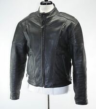 Leather Gallery Padded Black Motorcycle Jacket Thinsulate Zip Out Liner Large