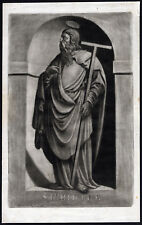 Antique Print-SAINT-PHILIP-APOSTLE-TAU CROSS-Ehinger-Sandrart-1708
