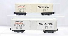 American Flyer 2 D.&R.G.W. Cookie Box Car 807 & 24039 S Scale