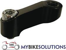 Bikeit Manillar Moto Espejo Extensor Monte Negro 10 Mm Rosca estándar de